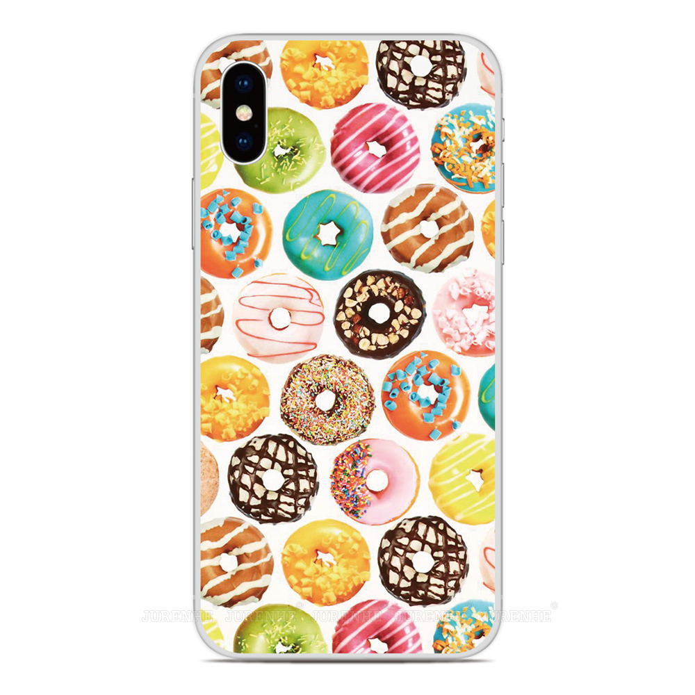 2019 Chocolate Donut Silicone Soft TPU Phone Case For LG K50s K40s K20 K30 K40 K50 Q60 X2 G8X G8S V60 Thinq K61 K51S K41S Cover