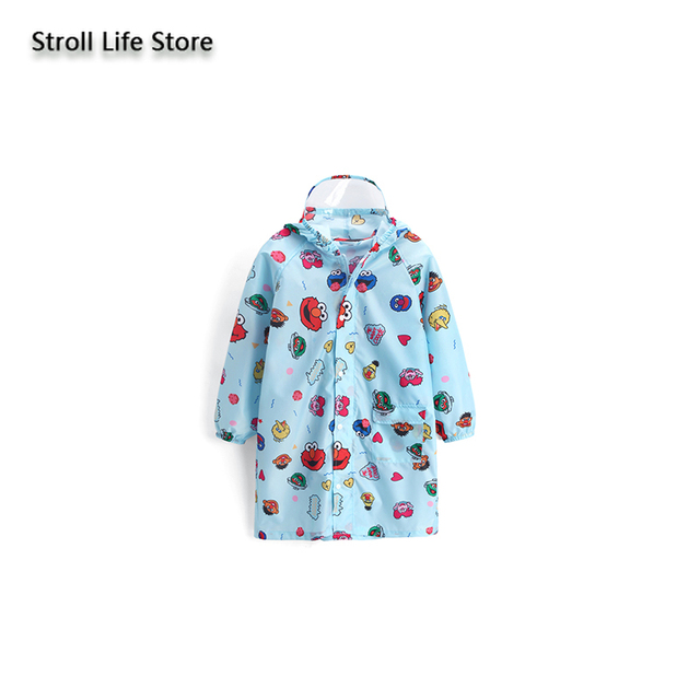 Cute Cartoon Raincoat Kids Boys Rain Poncho with Bag Bit Thin Long Rain Poncho Children Blue Jacket Capa De Chuva Gift Rain Gear 5