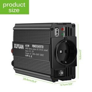 AC 12V To 220V 600W Auto Car Power Converter Inverter Adapter Charger Power Converter EU Socket Car Inverter