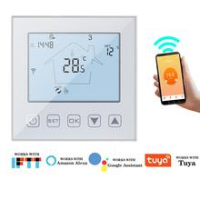 Inteligentne WiFi termostat 220V 3A 16A regulator temperatury termostat ciepłe ogrzewanie podłogowe bojler na wodę termostat współpracuje z Tuya tanie tanio KETOTEK CN (pochodzenie) wifi room thermostat Temperature Sensor Digital Wall Hanging 5~35C Amazon Echo Google Home Tmall Genie IFTTT ) Tuya APP