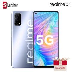 Realme Q2 двойной 5G мобильный телефон MTK Dimensity 800U 30 Вт VOOC 5000 мА/ч, Батарея 48MP основной Камера 120 Гц Экран частота обновления мобильного телефона