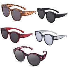 Vintage Sunglasses Women Leopard Polarized Shades Eyewear Sun Glasses With Case lentes de sol mujer D30