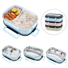 304 Stainless Steel Lunch Box Portable For Kids Microwave Heating Food Containers Picnic Office School