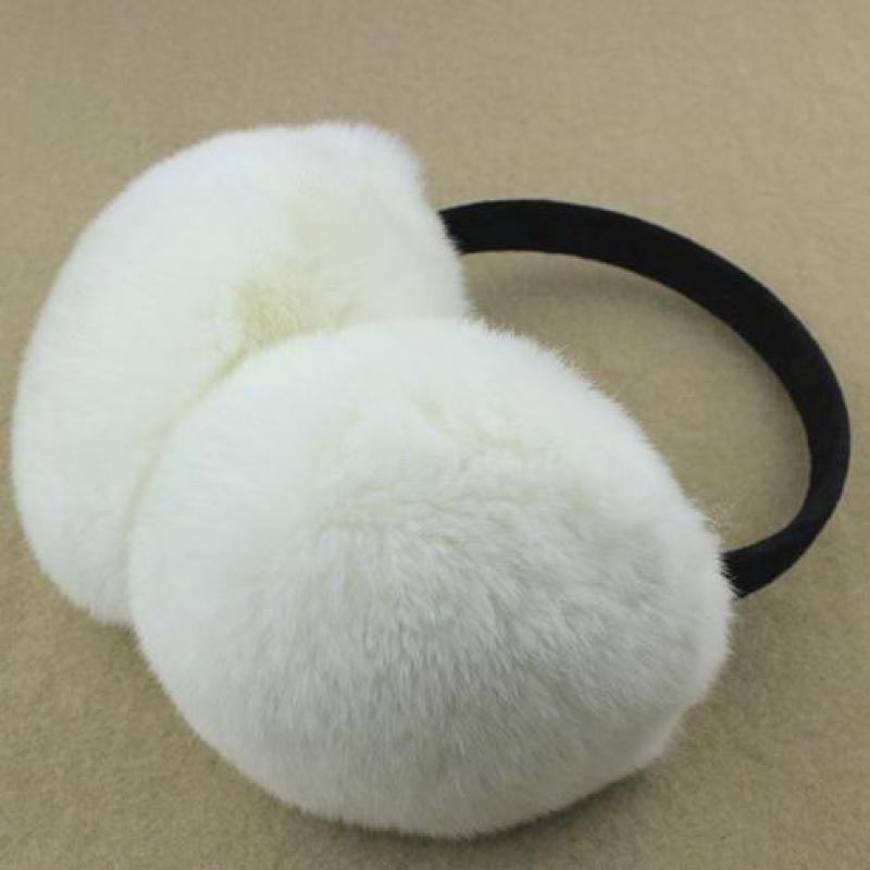 Rex Rabbit Fur Earmuffs Cute Men And Women Warm Earmuffs Ear Wrap Ear Cover Child Adjustable Smile Ear Pack