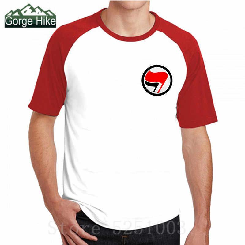 Antifa anarquista antifascista anarquista t camisas paz bandeira 3d símbolo manga curta camiseta moda impressão topos t camiseta masculina