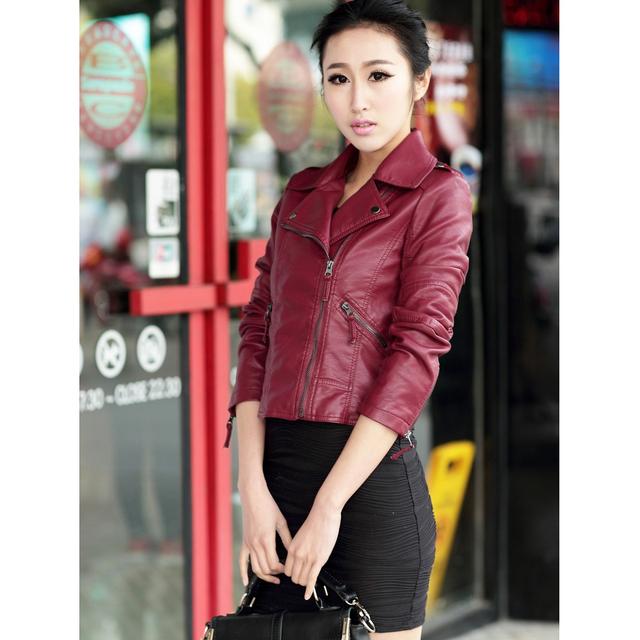Women Autumn Winter Zipper Soft Leather Jackets Female Black Slim Cool Lady PU Leather Jackets Fashion Short Faux Leather Coat