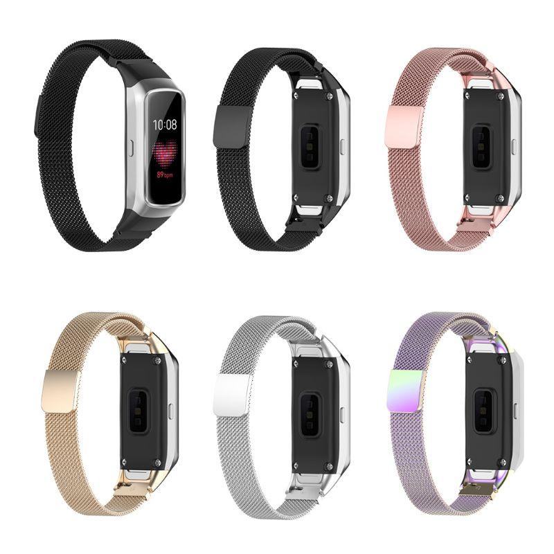 Magnetic Stainless Steel Replacement Watch Band Strap For Samsung Galaxy Fit SM-R370 Bracelet T4MD