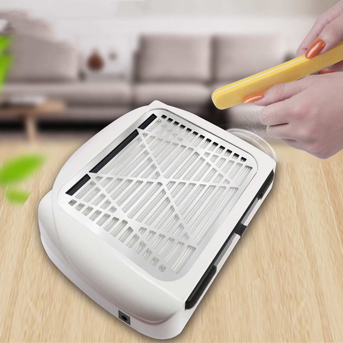White EU/US Plug Nail Suction Dust Collector Strong Nail Vacuum Cleaner Machine Low Noise With Filter Salon Tools 80W 110V/220V