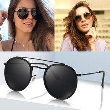 2019 dpz novo clássico feminino redondo polarizado óculos de sol 3647 raios homem condução carro masculino óculos de sol uv400 óculos de sol com caixa