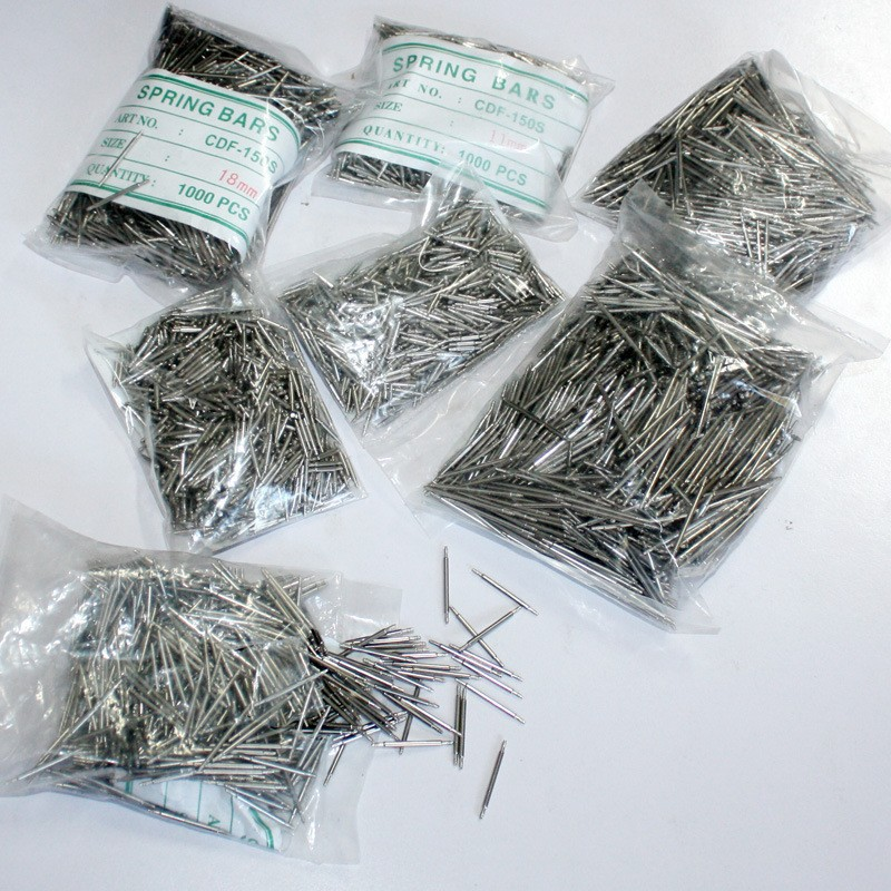 Watch Accessories Watch Stores Only Watch Tool Stainless Steel Watch Ear Watch Band Sping Needle 1.5 Chunky 1000PCS