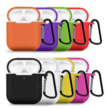 For AirPods 2 Case Headphone Bag Support Wireless Charging Headphone Case Bag Soft Silicone Case For Air pods 2 i500 i800 i1000(China)