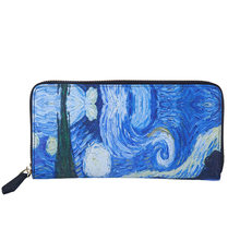 Van Gogh The Starry Night Designer Brand Women Wallets long