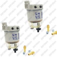 Motore diesel filtro separatore carburante/acqua 2 PCS R12T per Racor 140R 120AT S3240 NPT ZG1/4 19 parti automobilistiche Combo completo