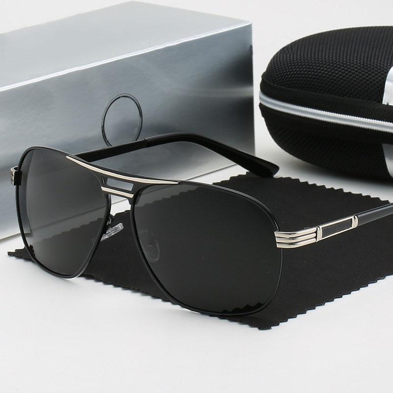 Polarized Sunglasses Men Fashion Brand Designer Mercede 1102 Square Sunglasses Men Sports Driving Fishing Glasses Oculos De Sol