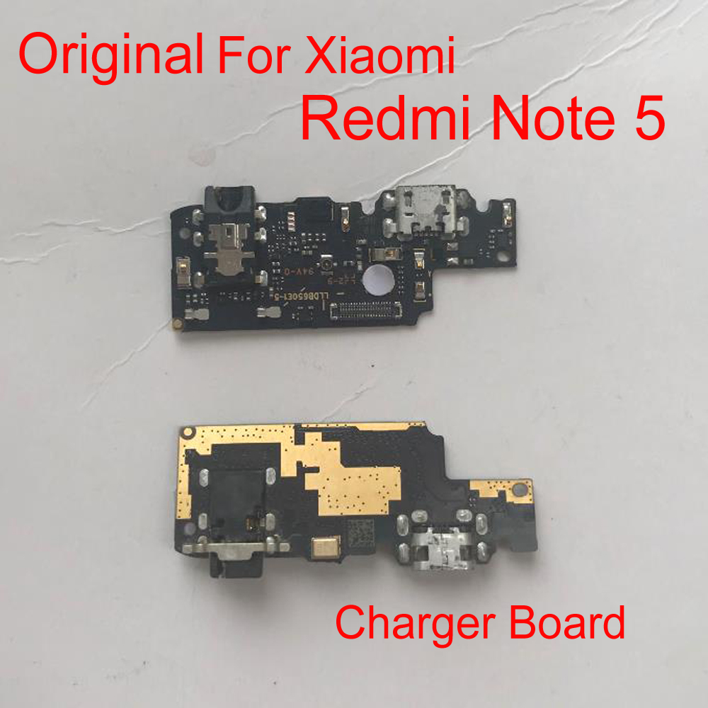 Original LTpro Microphone Module + USB Charging Port Board Flex Cable Connector Parts For Xiaomi Redmi Note 5 Replacement
