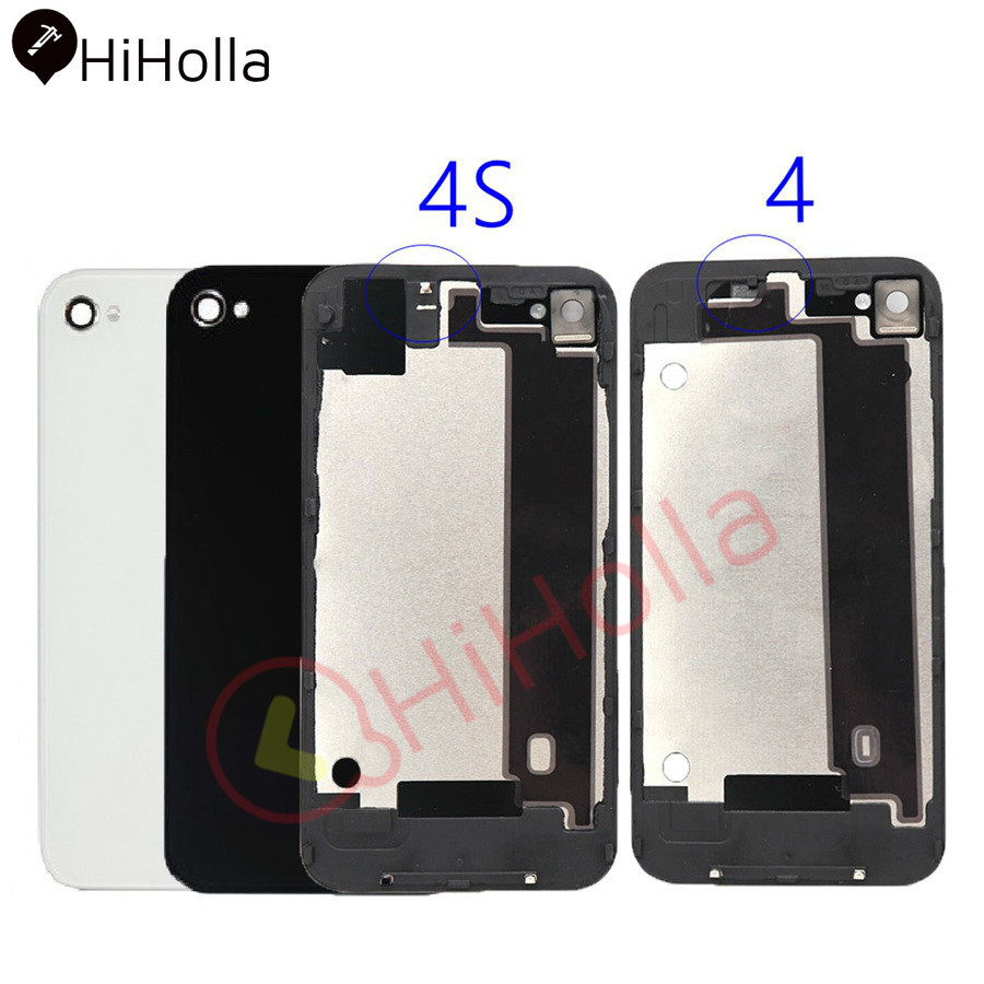 Glass-Panel-Case Battery Back Housing iPhone Door-Cover Body-Replacement 4 Apple 4S