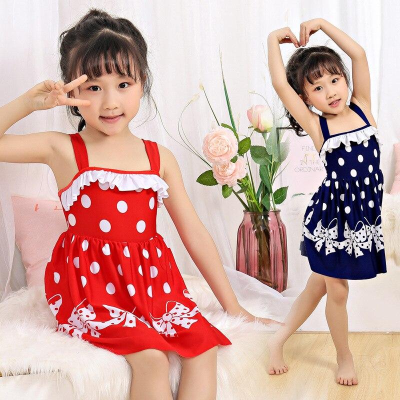 KID'S Swimwear Girls Swimwear Split Type Princess Dress-Small CHILDREN'S Baby Swim Bathing Suit GIRL'S Swimsuit Swimwear Summer