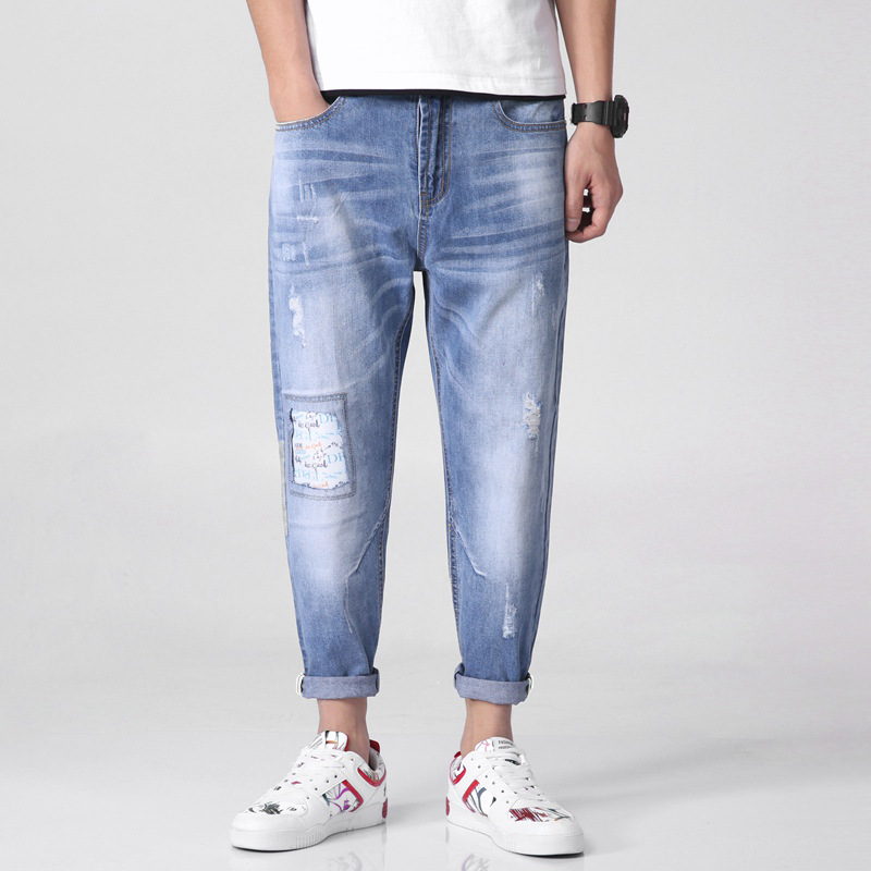 Manufacturers Direct Selling Men Capri Pants Japanese-style Cool Loose Harem Pants Fashion 9 Pants Jeans Fashion Y829