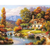 GATYZTORY Zero Basis DIY Painting By Numbers HandPainted Oil Painting House Landscape Picture Colouring Wall Decor
