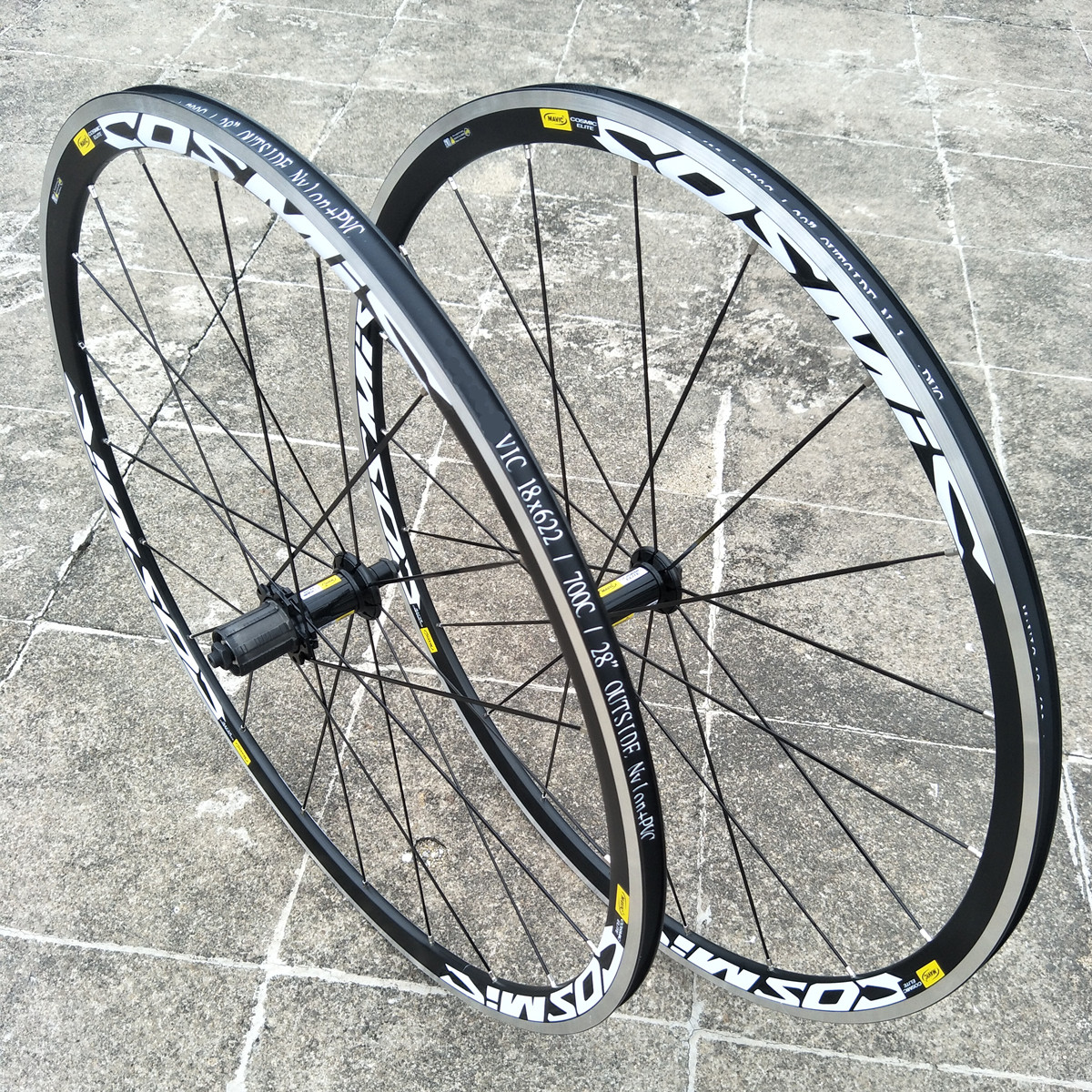 Hot sale Original 700C Cosmic Elite <font><b>BMX</b></font> Road Bike Bicycle <font><b>Wheel</b></font> Aluminium Alloy V Brake <font><b>Wheels</b></font> 30mm Rim Wheelset image