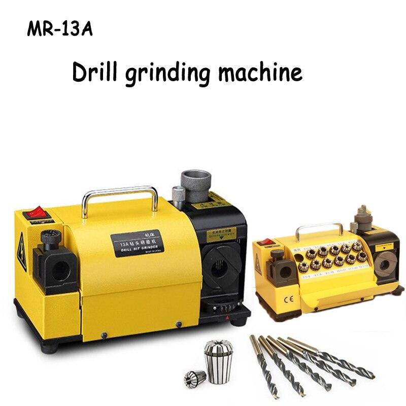 Drill Bit Grinder 110V 220V Drill Sharpener Machine Drill Grinding Machine with CBN or SDC Wheel Easier Operation MR-13A