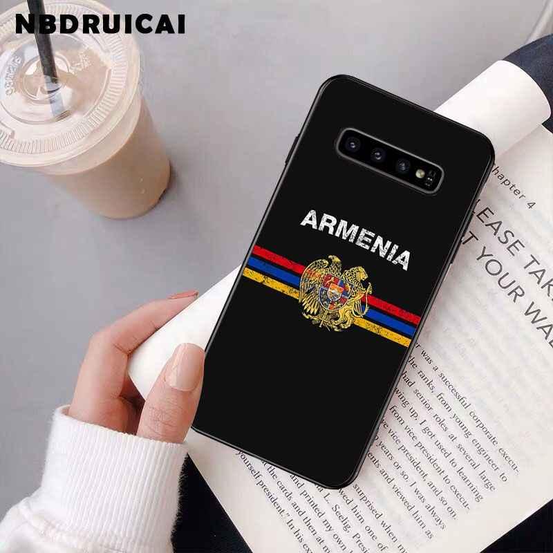 NBDRUICAI アルメニアアルバニアロシア旗エンブレム電話ケース S9 プラス S5 S6 エッジプラス S7 エッジ S8 プラス s10 E S10 プラス