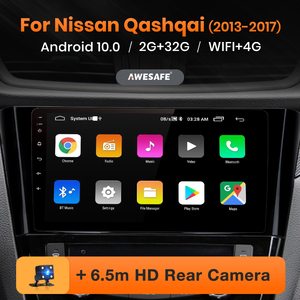AWESAFE PX9 for Nissan Qashqai 2013-2017 Car Radio Multimedia video player GPS No 2din 2 din Android 10.0 2GB+32GB
