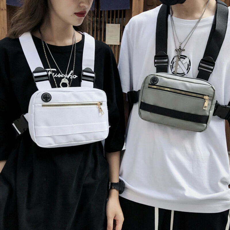 Unisex Chest Rig Waist Bags Tactical Harness Chest Bag Streetwear Hip Hop Fanny Pack