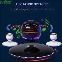 LED Levitating Bluetooth Speaker Floating Maglev multicolor led lights 360 Degree Rotating portable fashion UFO creative gifts