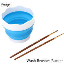 Portable Folding Brushes Bucket Washing Bucket Multifunction Wash Pen Barrel Brush Washer Art Supplies