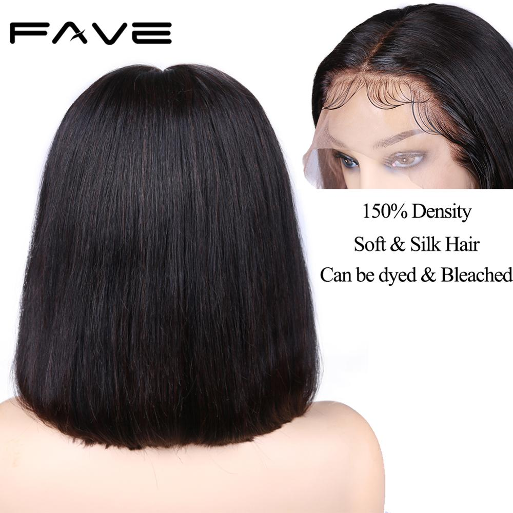 FAVE Human Hair Wigs Brazilian Straight Hair Wig With Baby Hair For Black Women Remy Pre Plucked Hairline Glueless Full Lace Wig