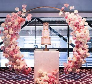 Image 5 - ทารกพรรคแต่งงานPropsตกแต่งWrought IronรอบแหวนArchฉากหลังรอบArchสนามหญ้าประดิษฐ์ดอกไม้แถวขาตั้งWallชั้นวาง