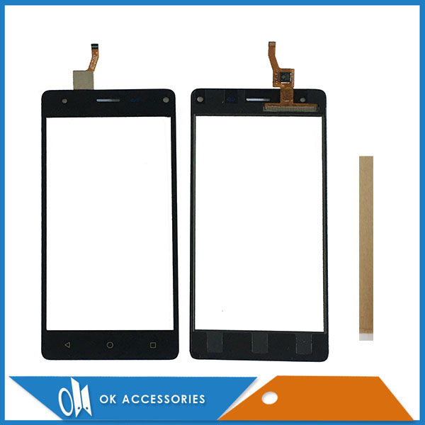 5.0 Inch For Prestigio Grace P5 PSP5515DUO PSP5515 Touch Screen Glass Digitizer Panel Front Black Gold Color With Tape