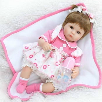 16 Inch Bebe Realista Menina Doll Reborn Lifelike Girl Reborn Babies Silicone Dolls Toys For Children Xmas Gift Bonecas For Chil