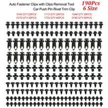 Auto-Fastener-Clips Bumper Rivet Fender-Liner Door-Panel Vehicle Mixed Plastic 6-Size