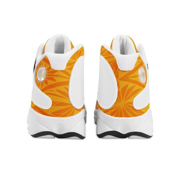 Buena calidad de la Polinesia Samoa Tribal naranja Tonga estilo zapatos de bola Logo de equipo deportivo de Baloncesto de los hombres zapatos deportivos 3