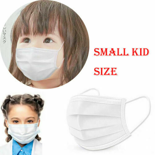 10pcs 3Ply Non-Woven Fabric Disposable Mouth Masks Baby Kids Anti Haze Mask Anti-dust Face Masks Baby Protection Mask White
