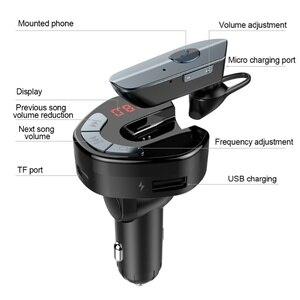 Автомобильный комплект громкой связи беспроводной Bluetooth fm-передатчик LCD MP3/WMA/WAV/FLAC плеер USB зарядное устройство 5 В/3.1A Hands Free