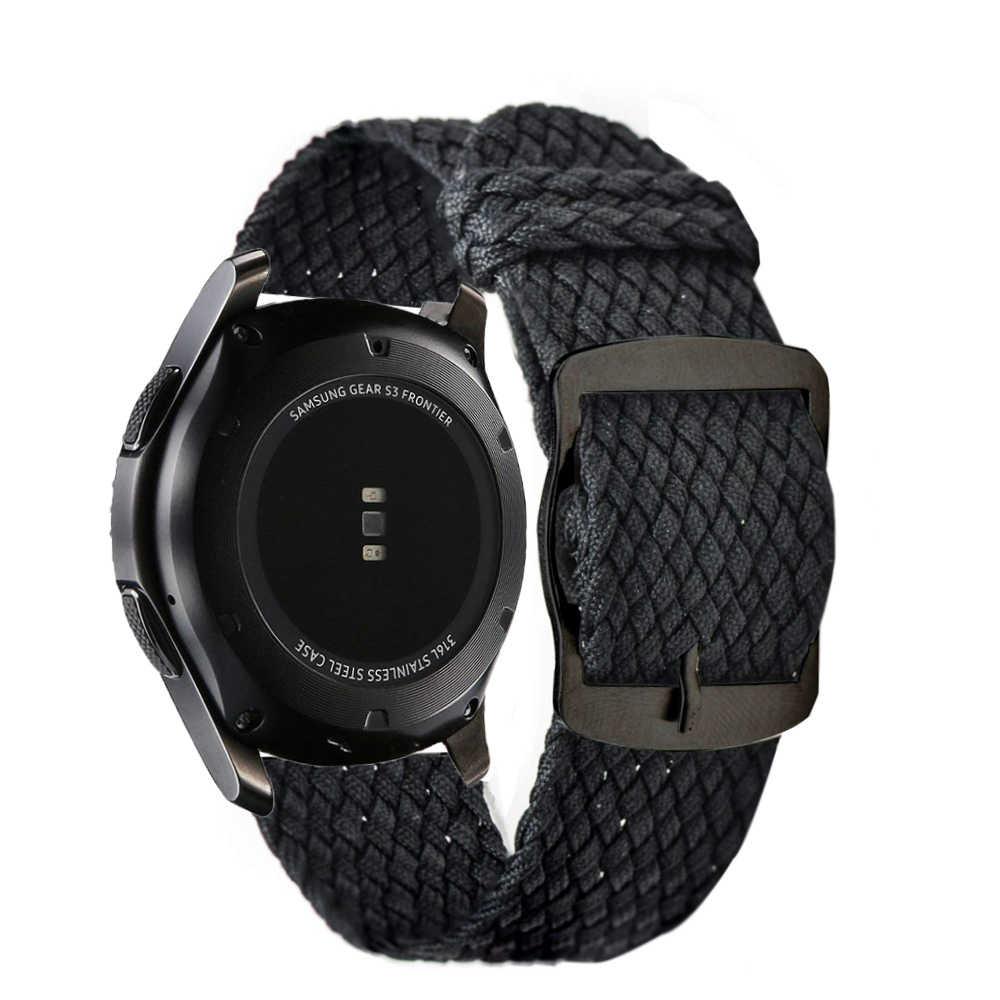 לנשימה ניילון ארוג לולאה להקת לסמסונג גלקסי שעון Active2 40mm 44mm הילוך S3 Xiaomi Huami Amazfit רצועת השעון 20 mm 22mm