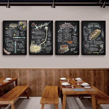 Hamburger Hot Dog Fast Food Wall Art kuchnia Cafe Home obraz ścienny na płótnie plakaty Vogue zdjęcia ścienny do dekoracja do salonu tanie i dobre opinie Elegant Poetry CN (pochodzenie) Wydruki na płótnie Oddzielna PŁÓTNO Wodoodporny tusz Martwa natura bez ramki Nowoczesne