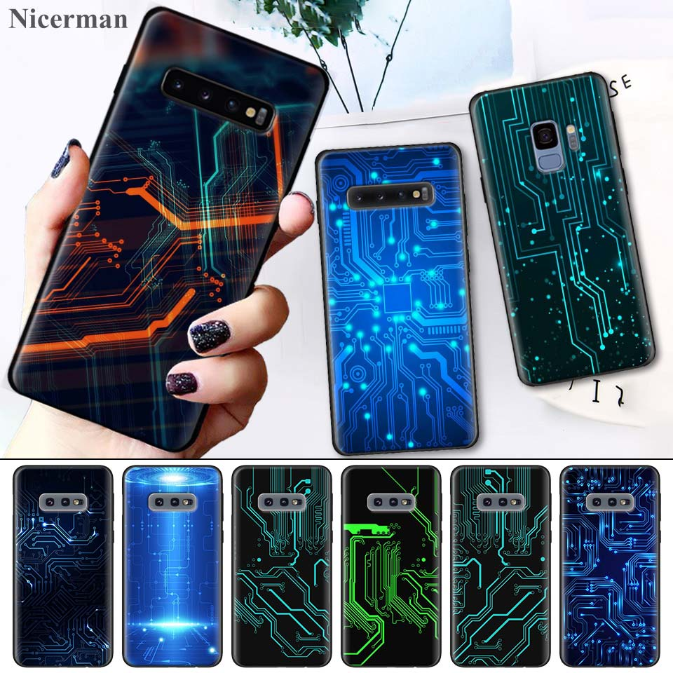 Case Cover for <font><b>Samsung</b></font> <font><b>Galaxy</b></font> S8 S9 S10 S10e 5G <font><b>Note</b></font> <font><b>8</b></font> 9 10 5G Plus S7 S7 Edge S8+ S9+ S10+ Technology Circuit <font><b>Motherboard</b></font> Case image
