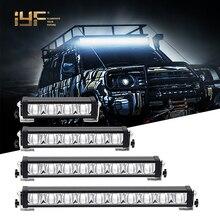 IP68 22Inch 64W Super Slim Single Row 12V 24V 36V LED Light Bar/Work Light for Auto ATV UTV 4x4 Accessories Offroad Trucks
