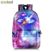 Galáxia mochila para adolescente meninas menino universo planeta saco de escola estudante universitário mochila escolar saco de livro