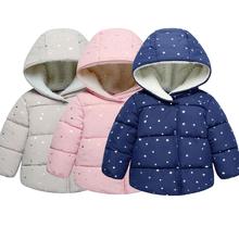 Zimowe dziewczynek ciepłe kurtki dla dziewczynek ubrania dla niemowląt odzież wierzchnia dla niemowląt chłopcy Spiderman kurtki dla maluchów płaszcze dla dzieci gruba kurtka tanie tanio XJYIYUANLC Nowość Poliester COTTON Winter Baby Girls Warm Jackets Pasuje prawda na wymiar weź swój normalny rozmiar