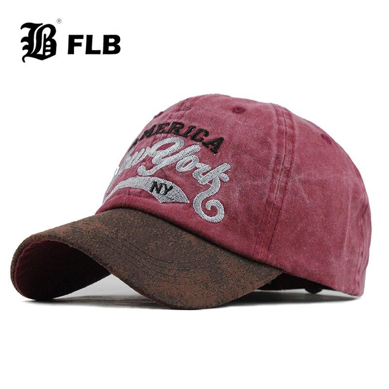 [FLB] Denim Baseball Cap Hats For Men Cap Women Streetwear Snapback Gorras Hombre Hats Bone Casual Hip Hop Caps Cotton F606