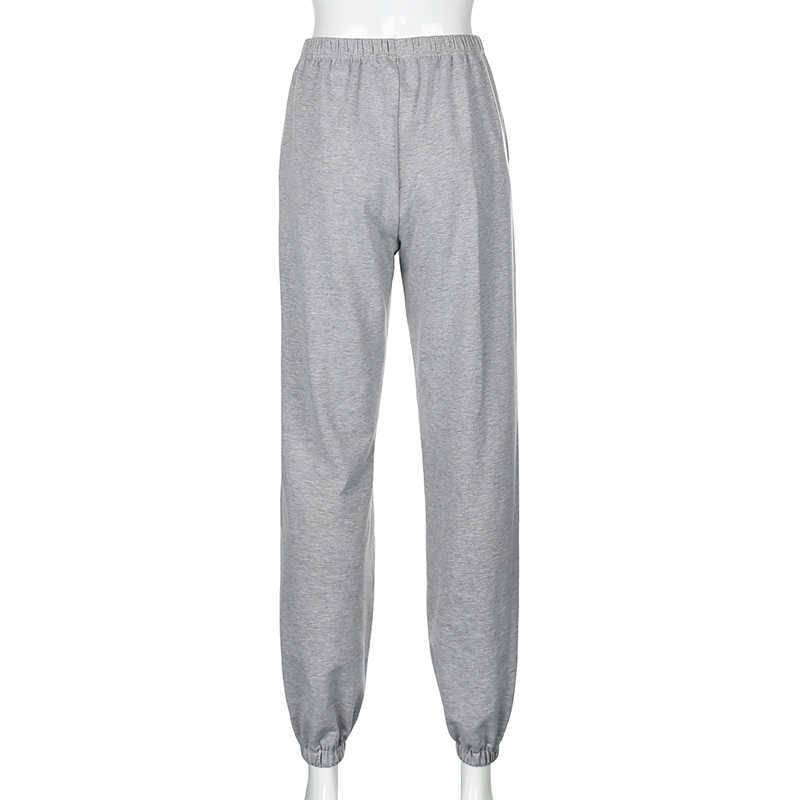 Darlingaga Streetwear kelebek baskı Sweatpants kadınlar Baggy yüksek bel pantolon moda Joggers ter pantolon kadın egzersiz Pantalon
