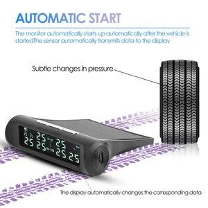 Image 3 - Vodool an 07 solar carro tpms sistema de alarme de monitoramento de pressão dos pneus com 6 sensores externos display lcd monitor de pressão de pneus automático