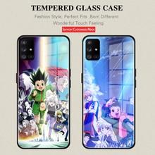 For Samsung A52 Anime Hunter X Hunter cartoon Tempered Glass Phone Case For Samsung A51 4G A51 71 5G 4G A20 30 40 50 70 81 91