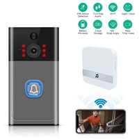 Wi fi inteligente ip vídeo porteiro campainha sem fio com câmera para apartamento campainha do telefone da porta anel ir alarme câmera de segurança|Campainha| |  -