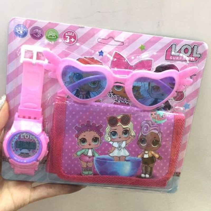 Genuine LOL Surprise Dolls 3in1 Original Lols Dolls Figures Sunglasses Watch Wallet Action Figures Daily Supplies Lol Dolls Sets